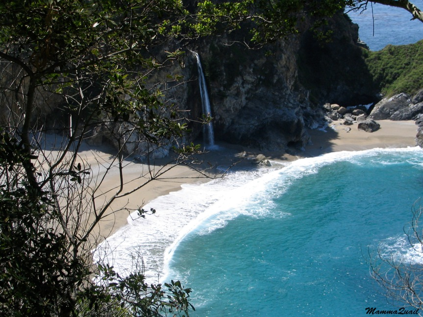 waterfall-on-beach